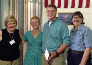 Scholarship winner Christian Wheeler.